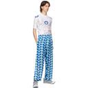 GmbH Blue Eyeprint Snap Trousers