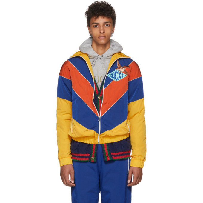 Photo: Gucci Yellow and Blue Technical Jacket