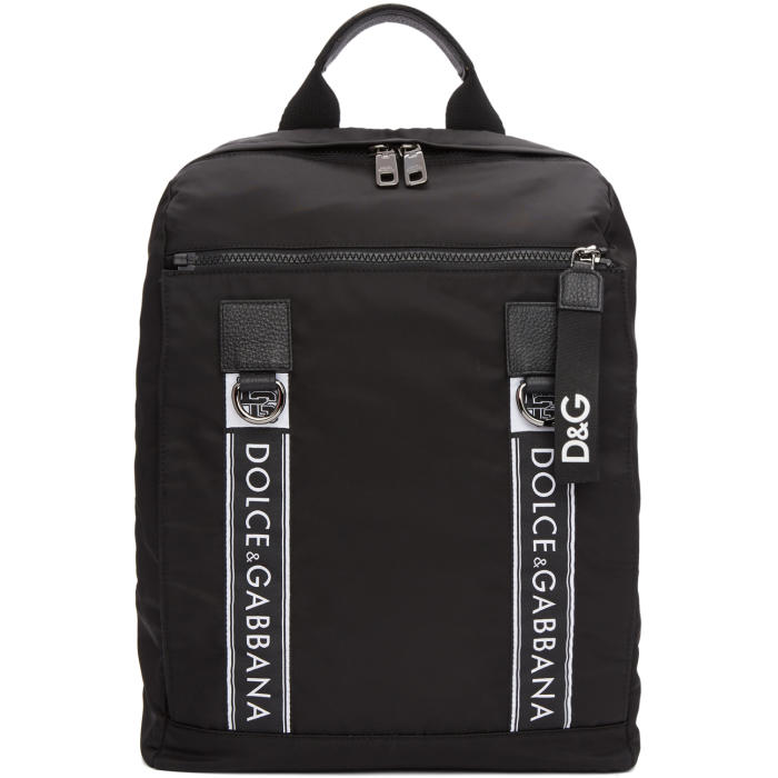 Photo: Dolce and Gabbana Black Nylon Backpack