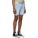 Ksubi Blue Denim Dagger Dank Karma Shorts
