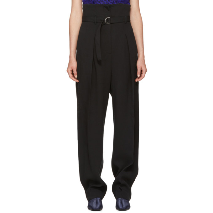 3.1 Phillip Lim Black High-Waisted Foldover Trousers