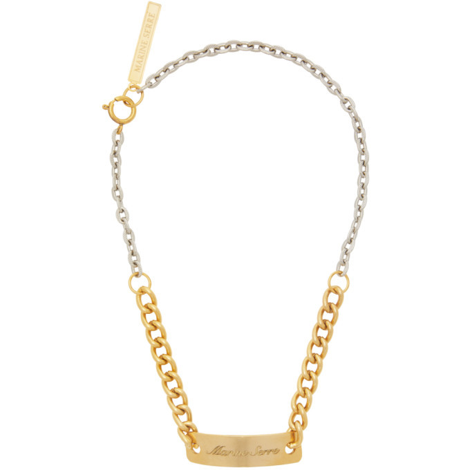 Photo: Marine Serre Gold and Silver Gourmette Necklace