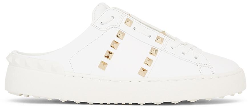 Photo: Valentino Garavani White Slide Open Sneakers