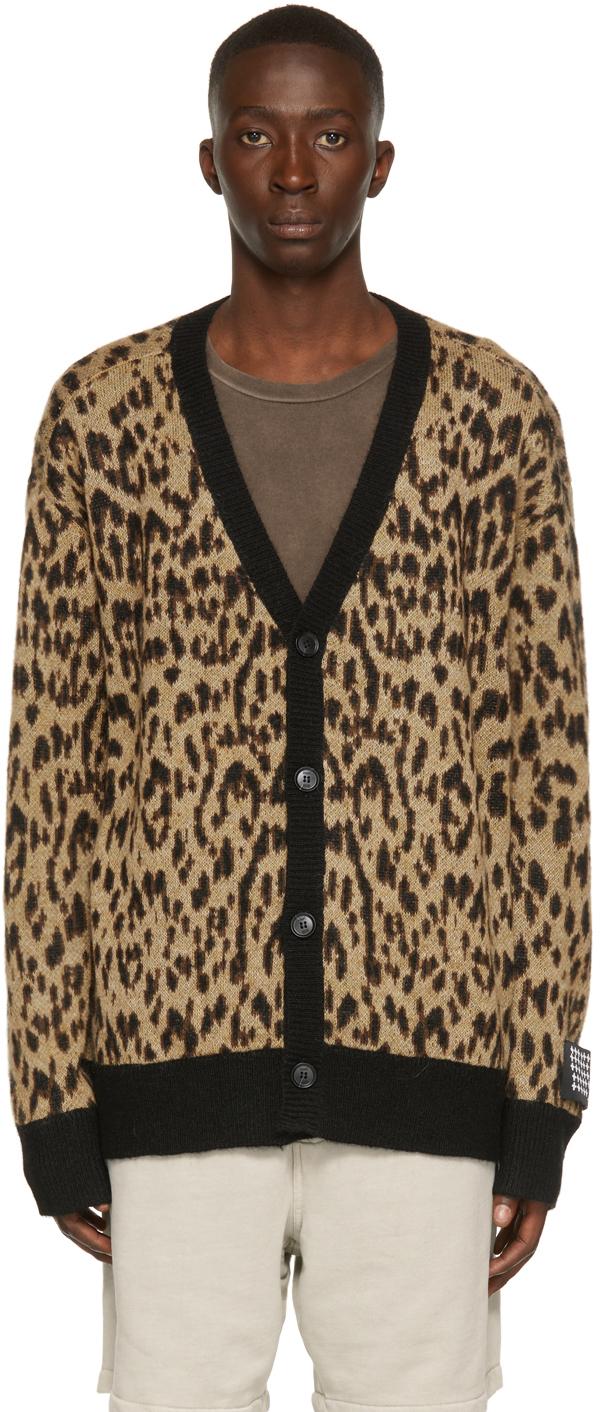 Photo: Ksubi Tan Leopard Jungle Cardigan