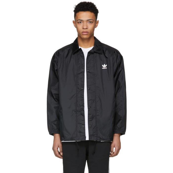 Photo: adidas Originals Black Trefoil Coach Jacket