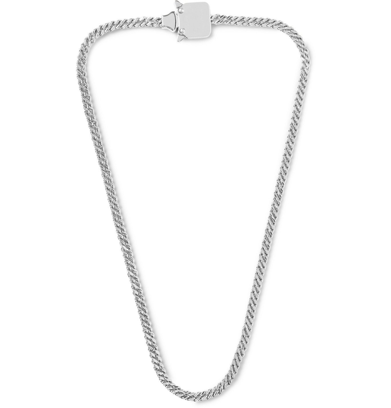 1017 ALYX 9SM - Logo-Embossed Silver-Tone Chain Necklace - Silver