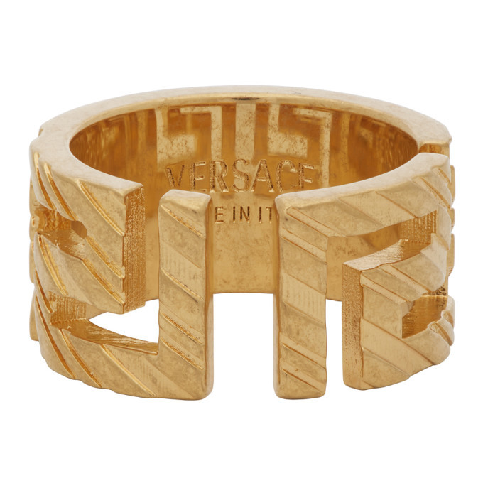 Photo: Versace Gold Address Plate Ring