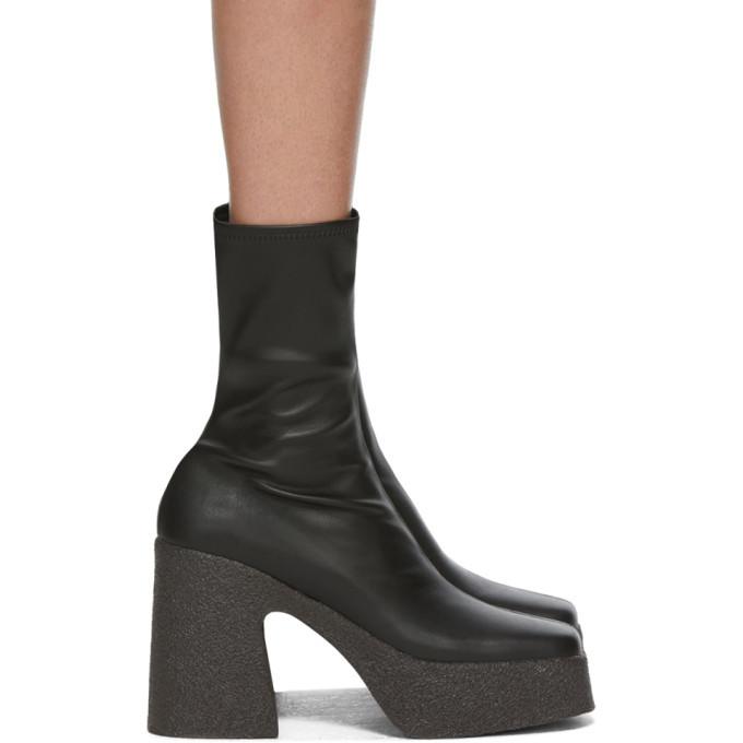 Stella McCartney Black Block Heel Boots