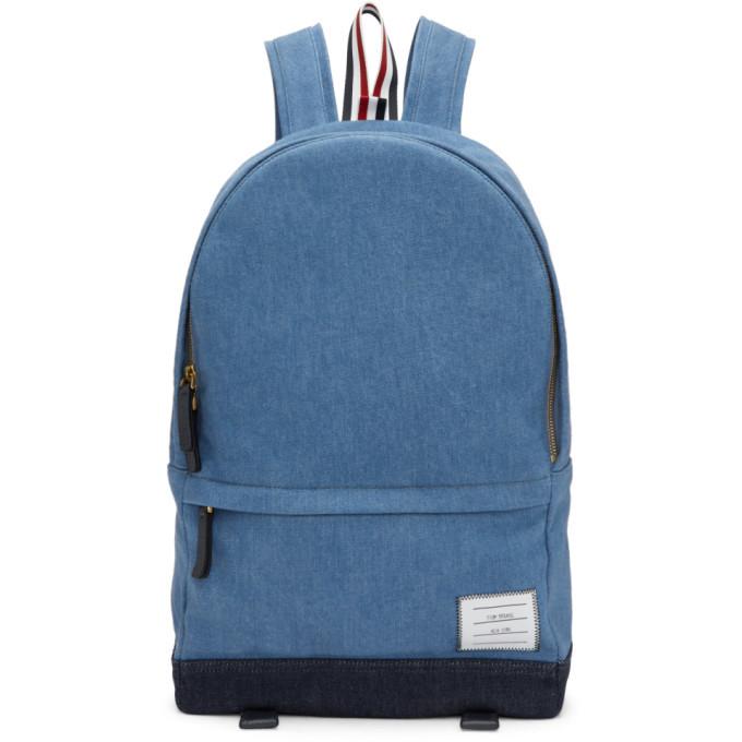 Photo: Thom Browne Blue Denim Unstructured Backpack