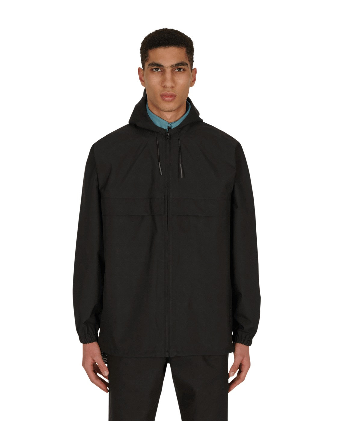 Photo: Gr10k Gore Tex Drwn Off Raincoat Black