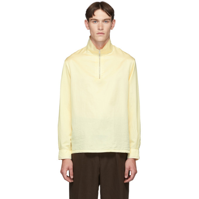 Photo: Our Legacy Yellow Half Zip Polo Sweatshirt