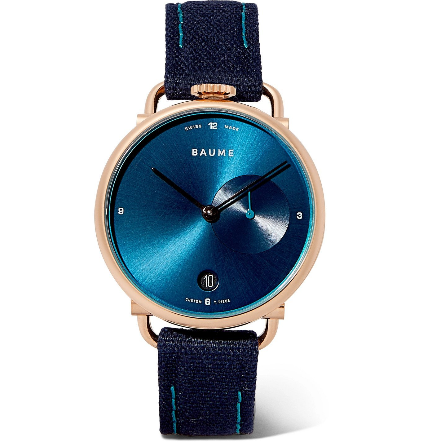 Photo: Baume - 35mm PVD-Coated Stainless Steel and Cotton-Canvas Watch, Ref. No. 10603 - Blue