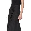 3.1 Phillip Lim Black Tie Front Maxi Skirt