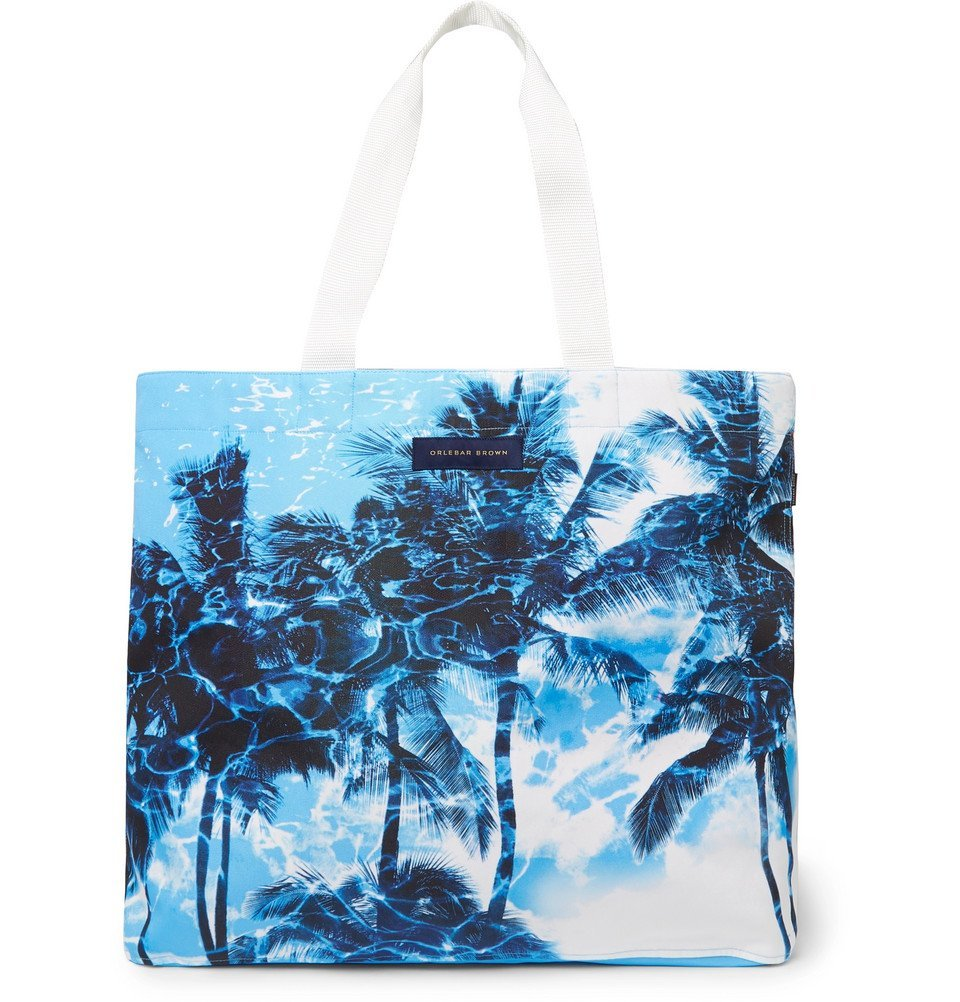 Photo: Orlebar Brown - Clyde Printed Canvas Tote Bag - Blue