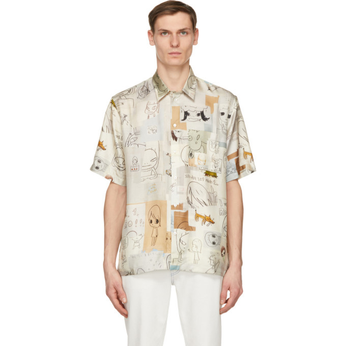 Photo: Stella McCartney Multicolor Yoshitomo Nara Edition Silk Print Ricky Short Sleeve Shirt
