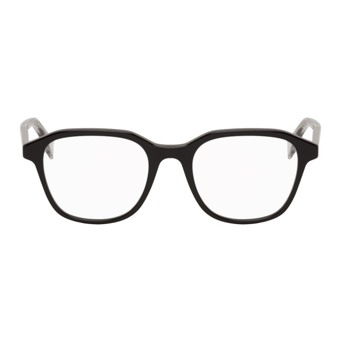 Photo: Fendi Black Oval Modified Glasses