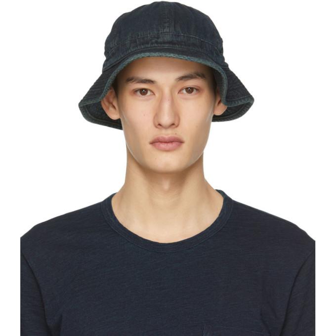 Photo: RRL Indigo Daisy Mae Bucket Hat