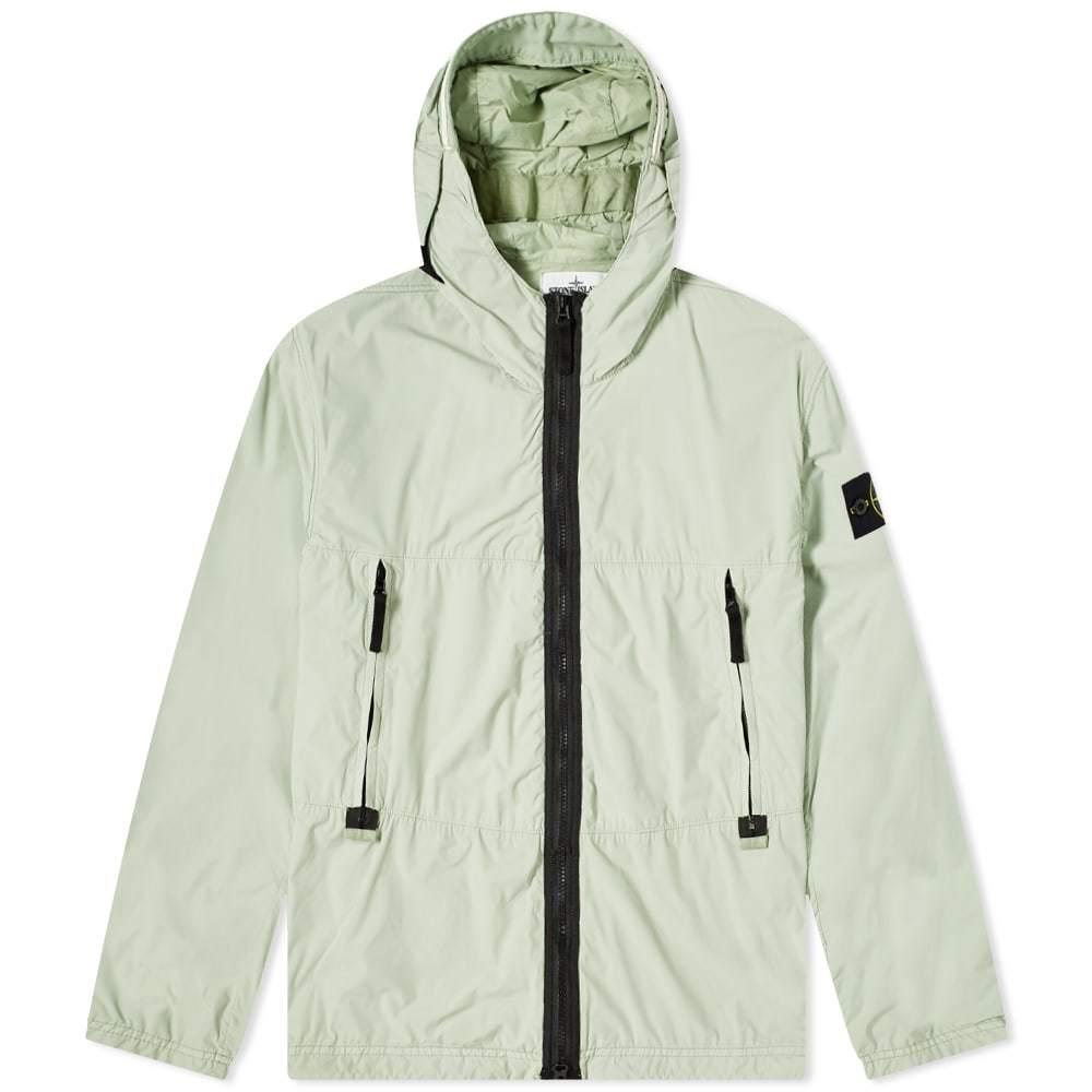 Stone Island Nylon Garment Dyed Hooded Jacket