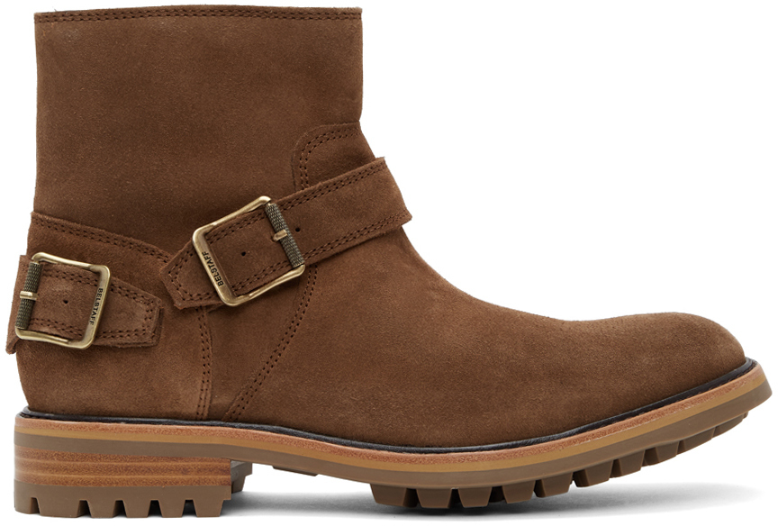 Photo: Belstaff Tan Suede Trialmaster Chelsea Boots