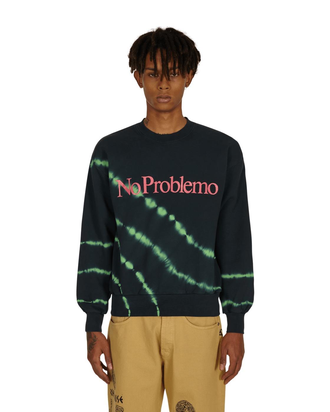 Aries Tie Dye No Problemo Crewneck Sweatshirt Green