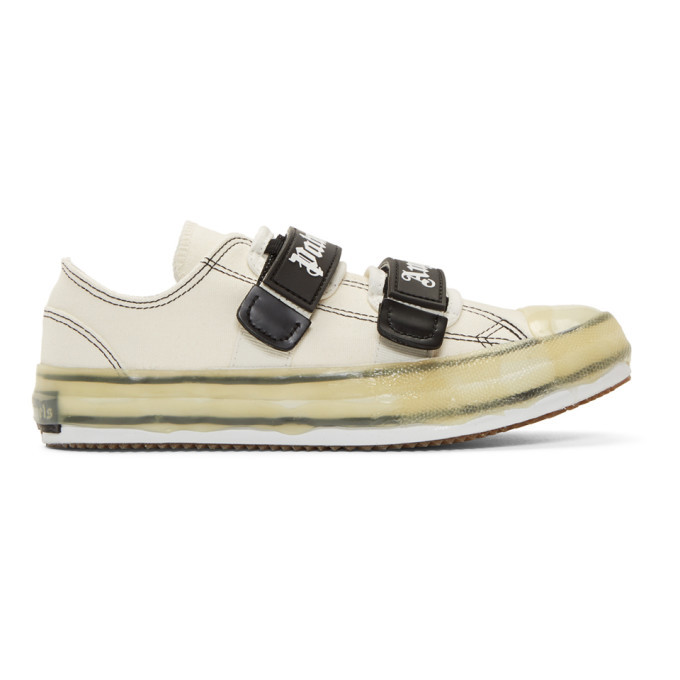 Photo: Palm Angels White Velcro Vulcanized Sneakers