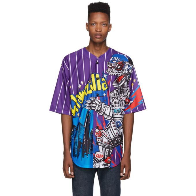 Photo: Dolce and Gabbana Purple Striped Glamzilla Sport Shirt
