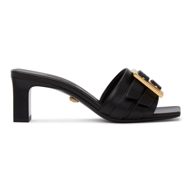Photo: Versace Black Greta Empire Heeled Sandals