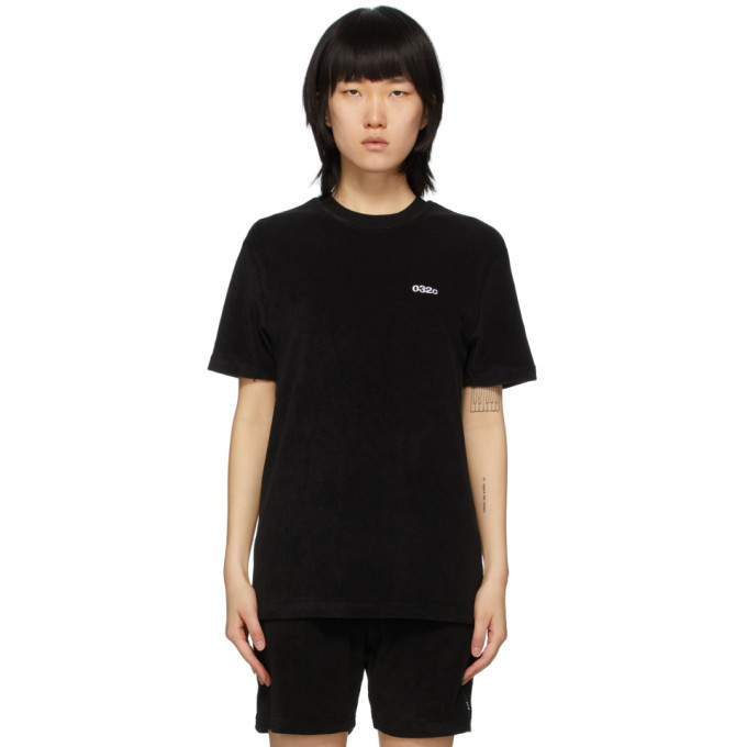 Photo: 032c Black Terry Logo Embroidery T-Shirt