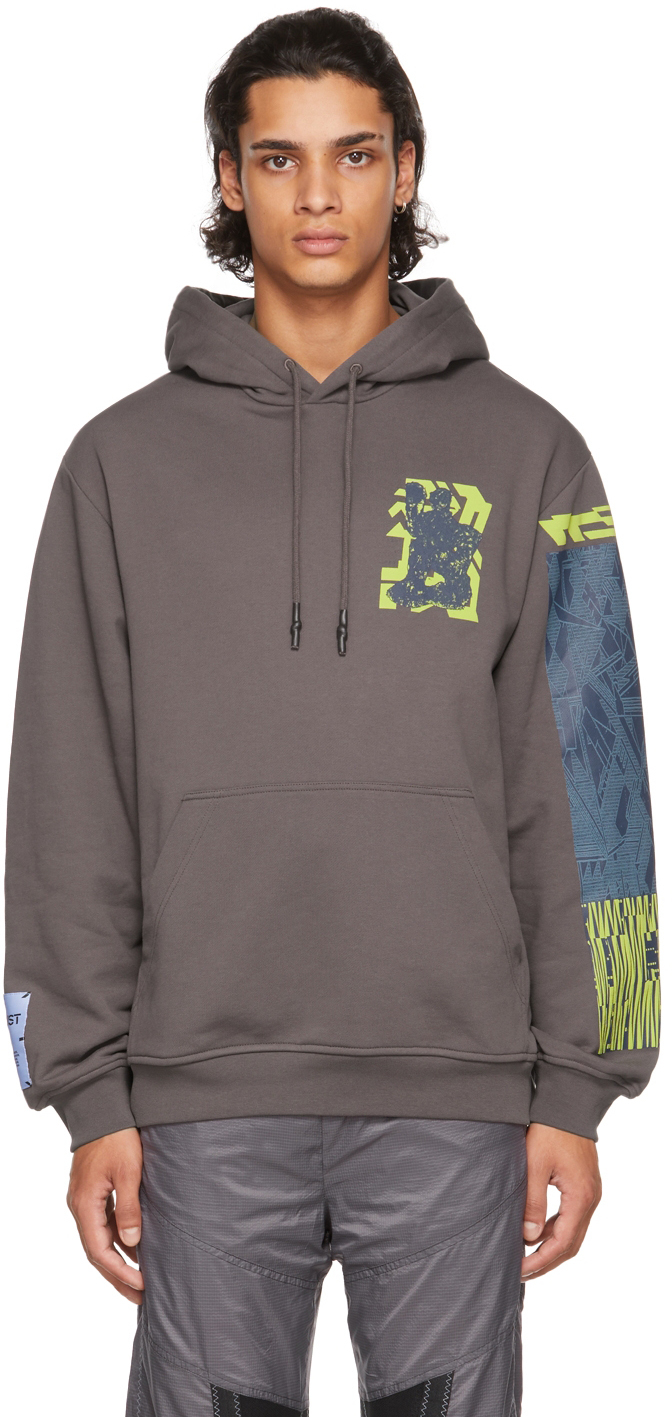 Photo: MCQ Taupe Cat Lap Relaxed Hoodie