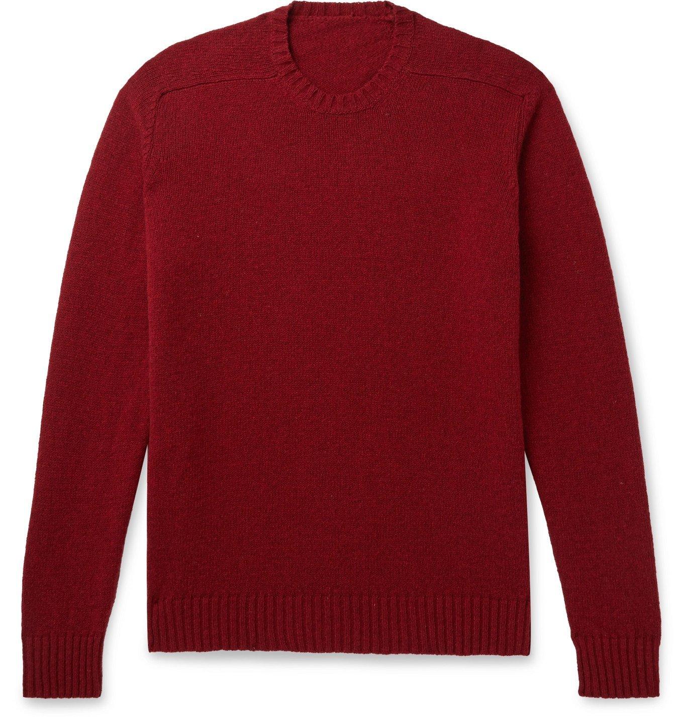 Photo: Anderson & Sheppard - Shetland Wool Sweater - Burgundy