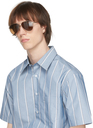 Dunhill Gold Oval Aviator Sunglasses