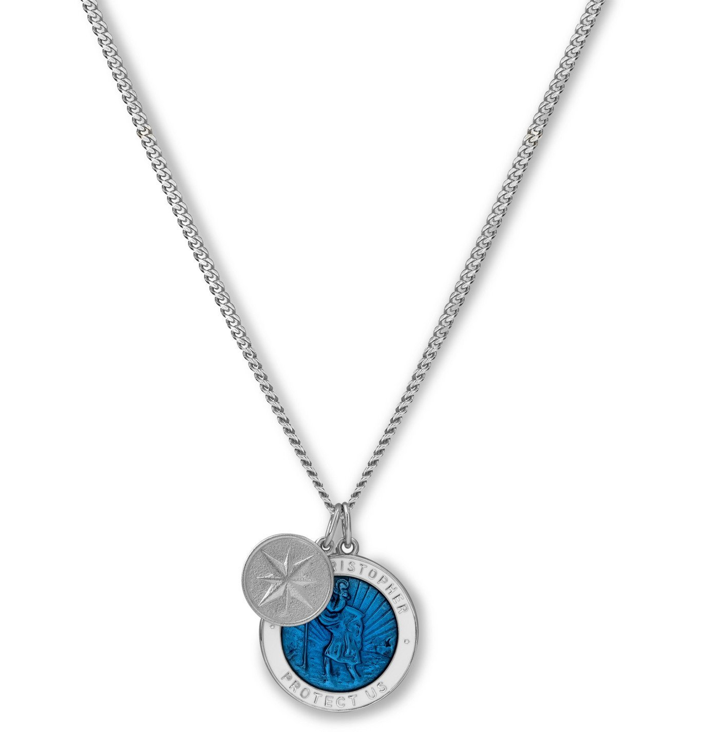Photo: Miansai - St Christopher Sterling Silver and Enamel Necklace - Silver