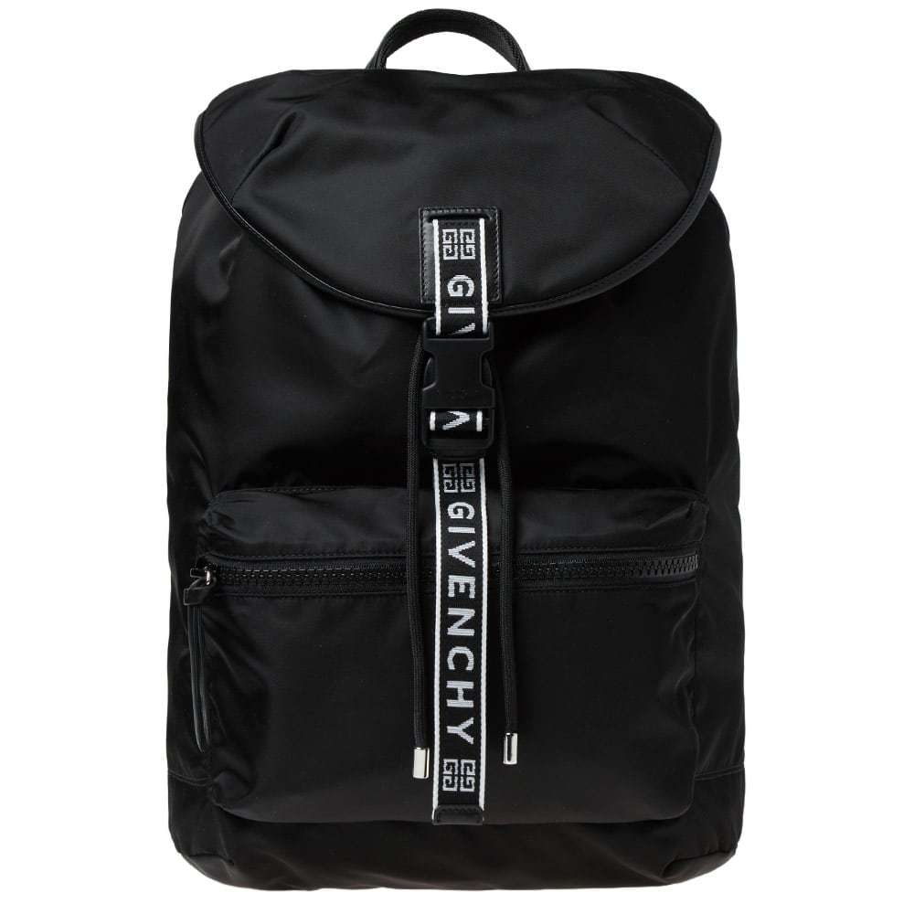acbe47526f1c Givenchy Sternum Taped Address Nylon Backpack Givenchy