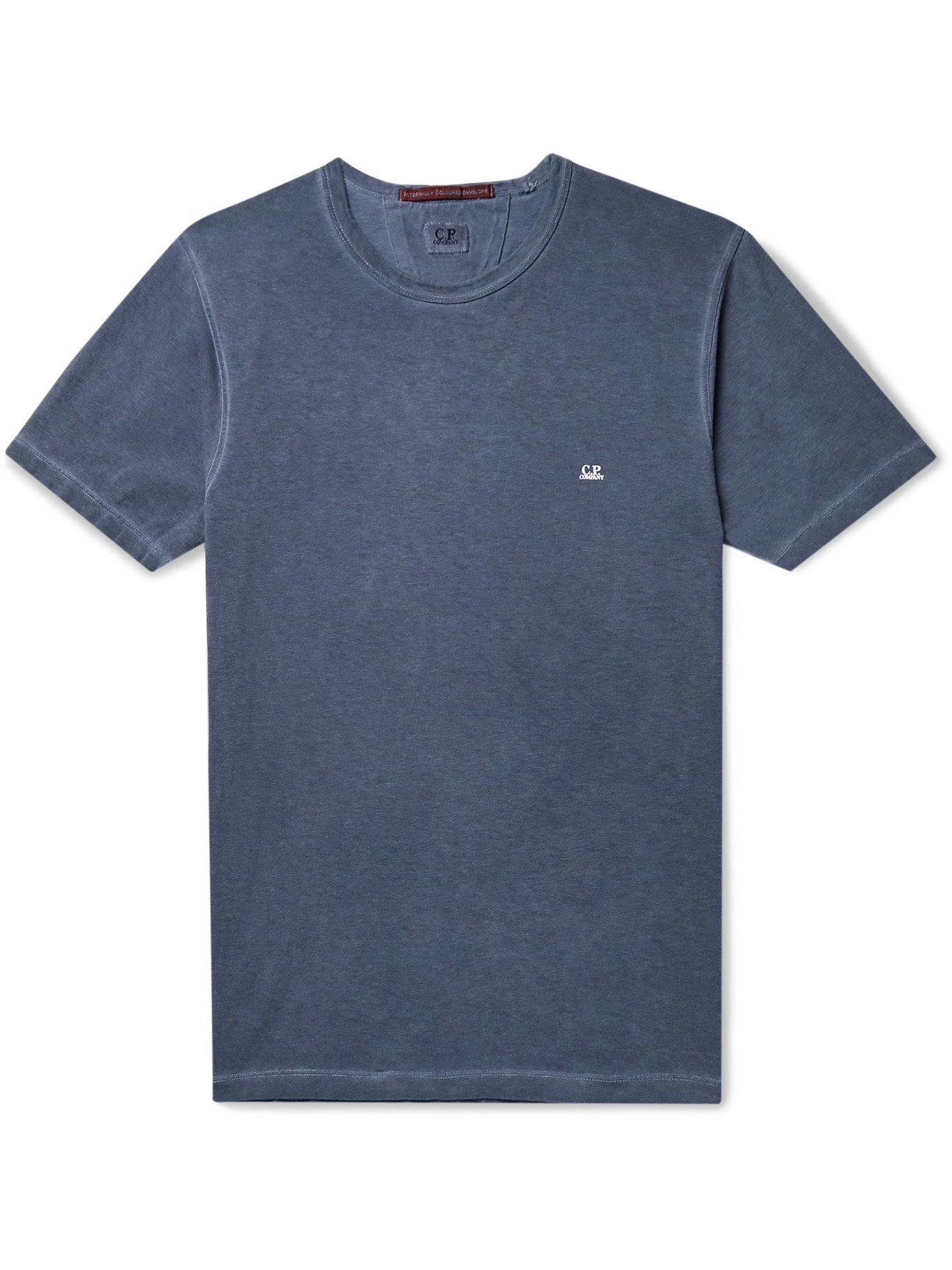 Photo: C.P. COMPANY - I.C.E. Garment-Dyed Cotton-Jersey T-Shirt - Blue - S