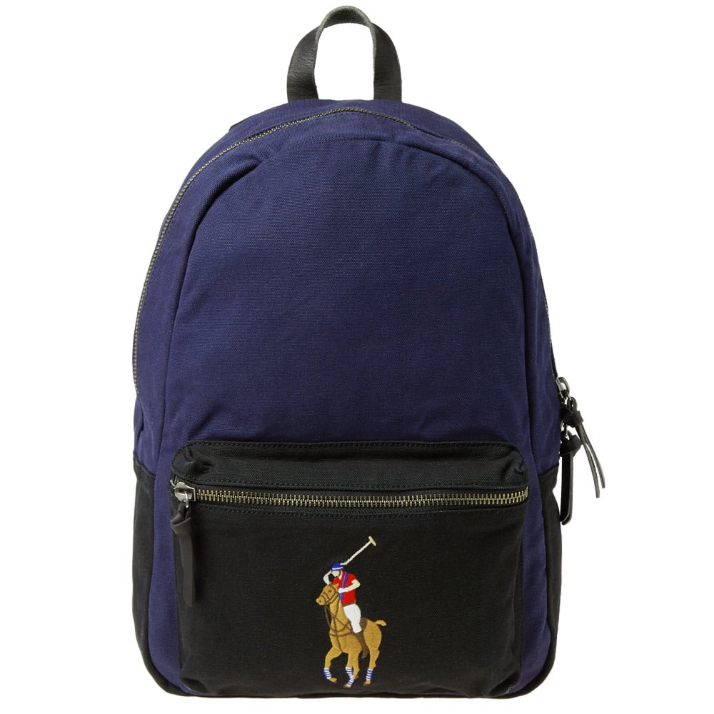 938f96b74 Ralph Lauren Duffle Navy Blue And Brown Bag | Sabis Bulldog Athletics