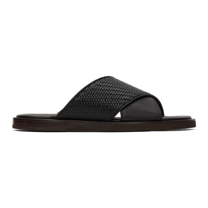 Photo: Ermenegildo Zegna Black Leather Slides
