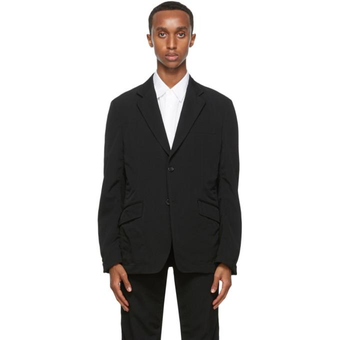 Photo: Comme des Garcons Homme Black Wool Gabardine Blazer