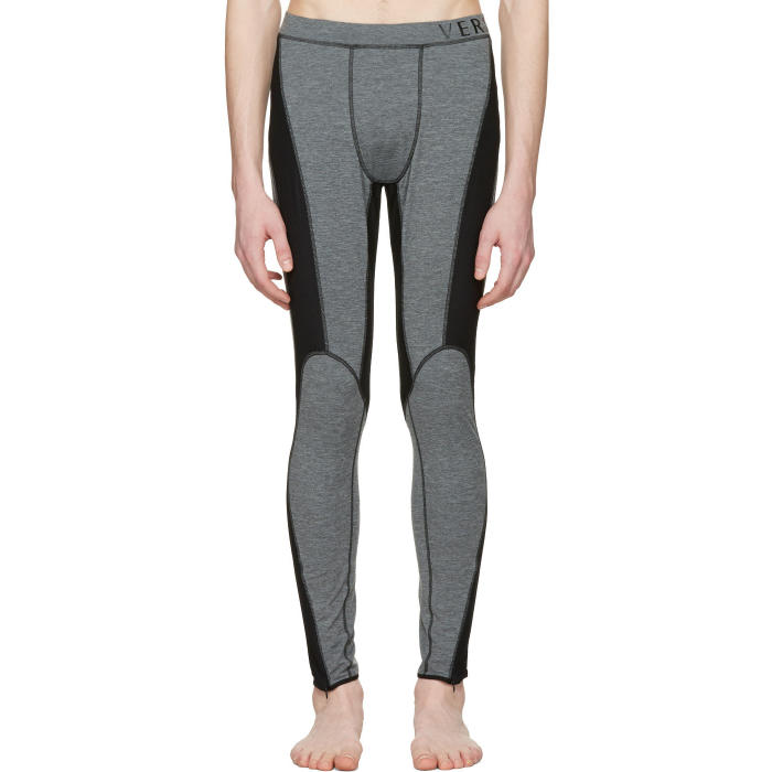 Photo: Versace Underwear Grey Panelled Leggings
