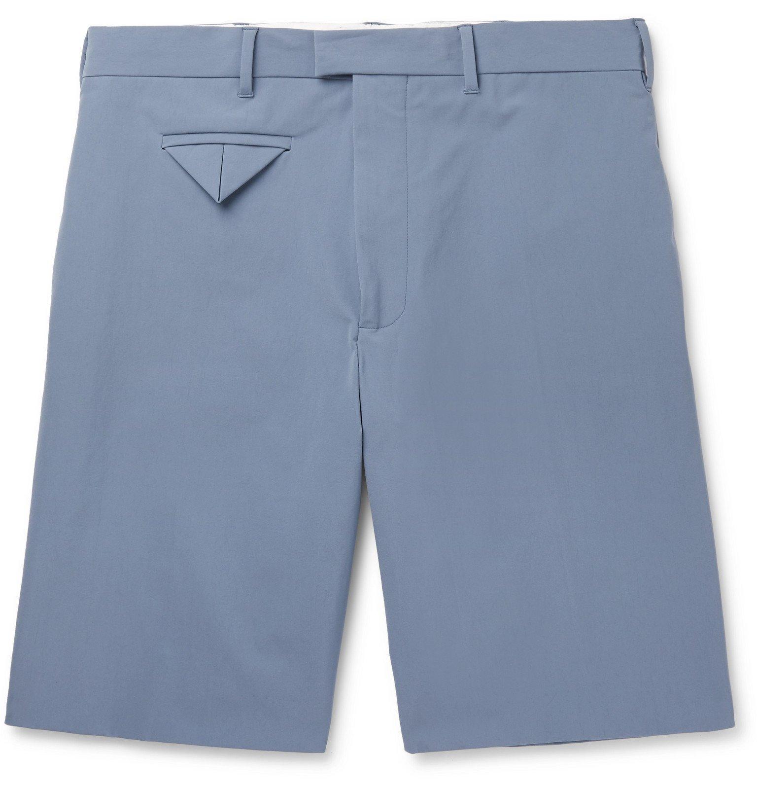 Photo: Bottega Veneta - Wide-Leg Stretch-Shell Shorts - Blue