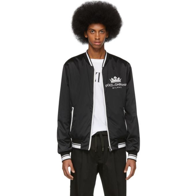 Photo: Dolce and Gabbana Black Milano Bomber Jacket