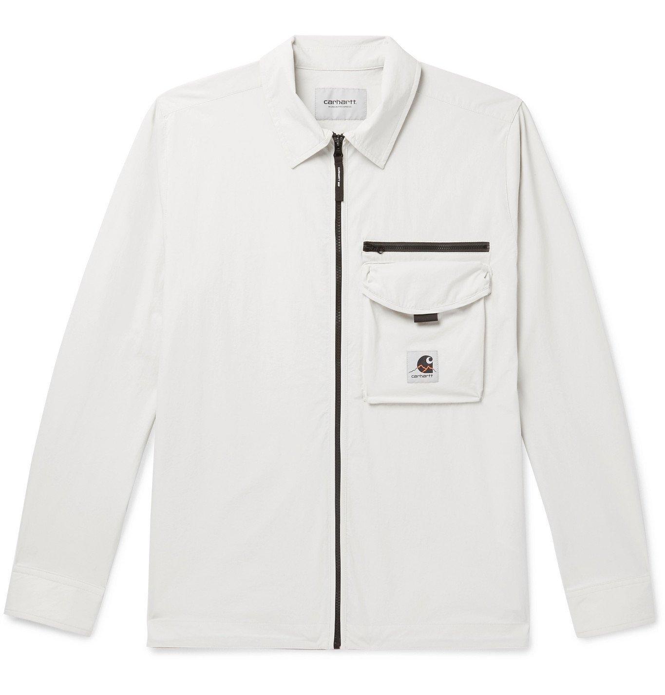 Photo: Carhartt WIP - Hayes Stretch-Nylon Shirt Jacket - Gray