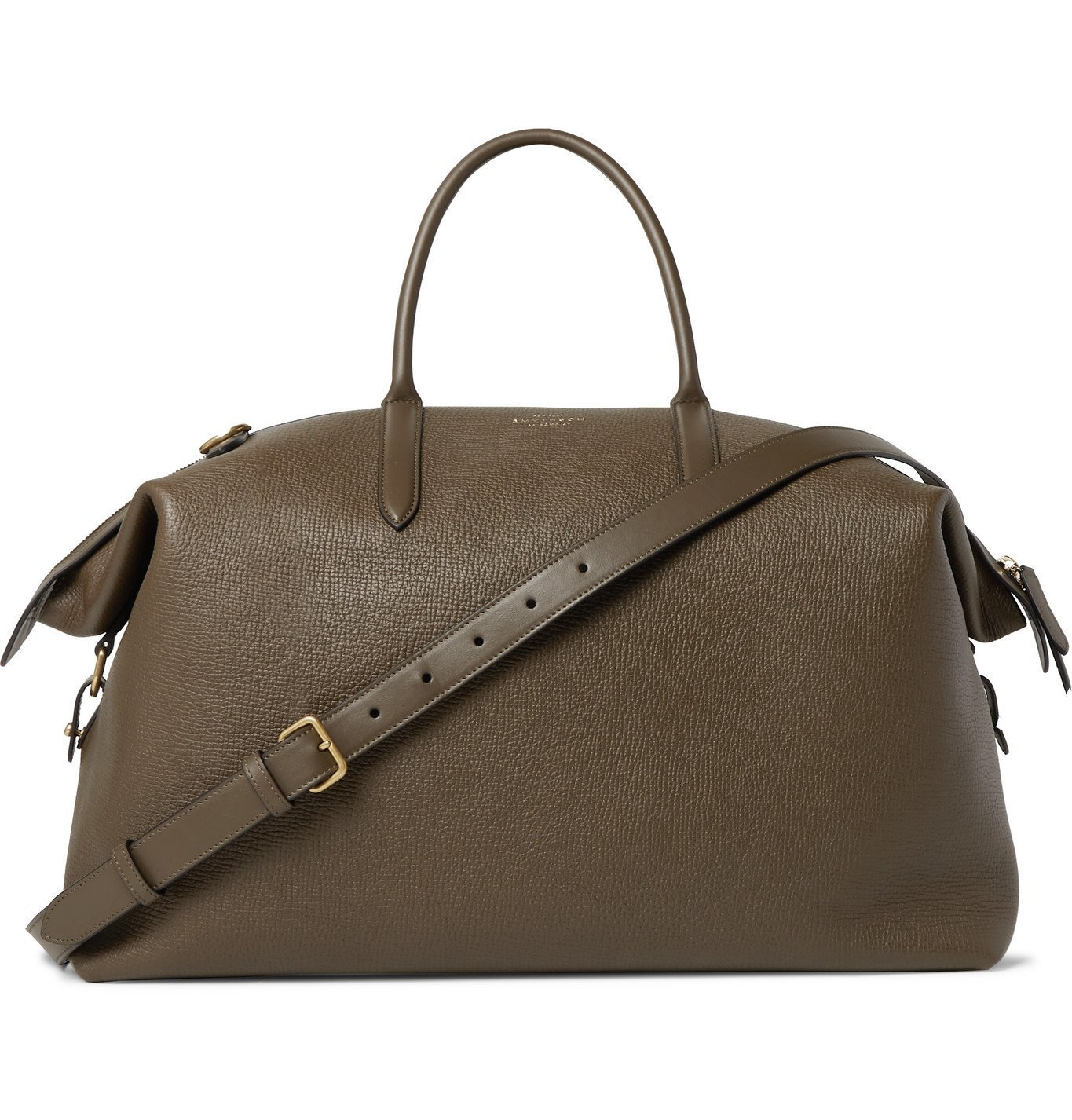Photo: Smythson - Ludlow Full-Grain Leather Holdall - Green