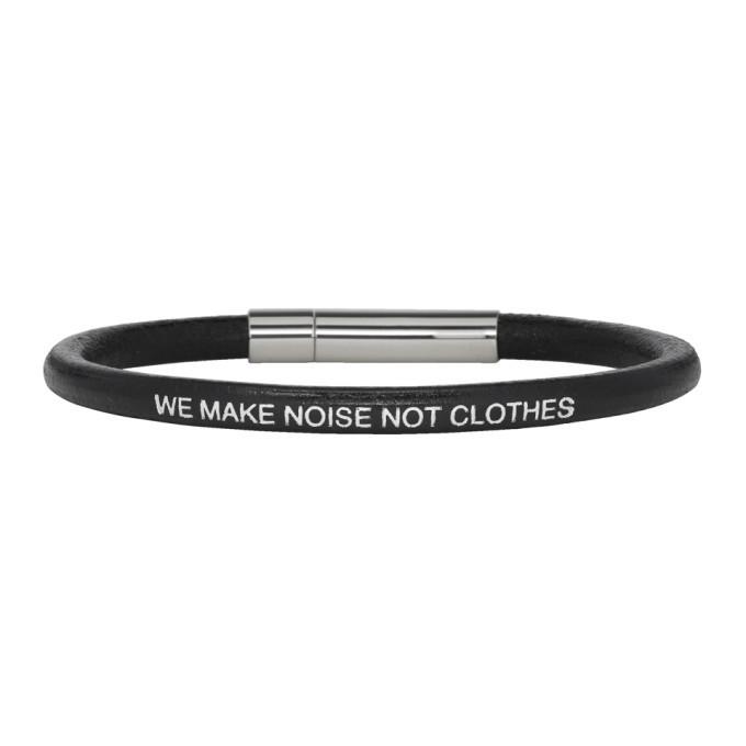 Photo: Undercover Black We Make Noise Not Clothes Bracelet
