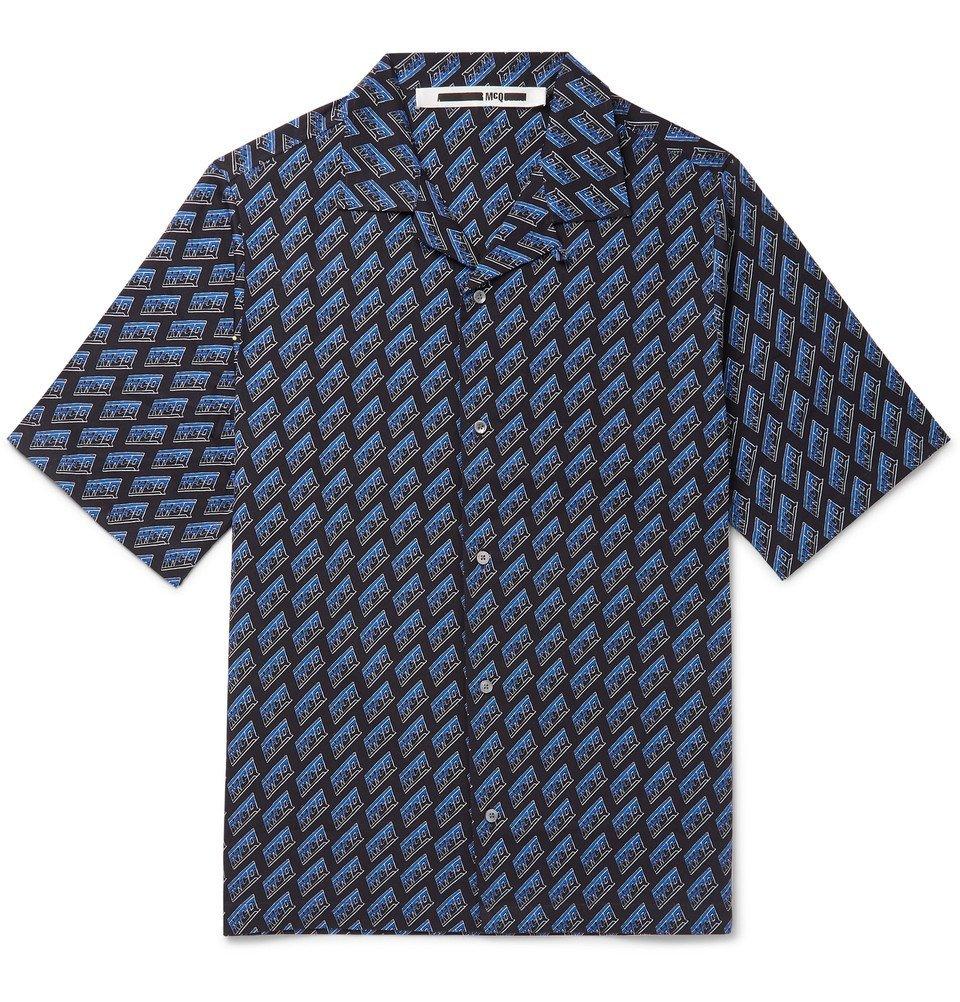sale retailer e7e5c 86640 Photo  McQ Alexander McQueen - Camp-Collar Logo-Print Cotton-Poplin Shirt