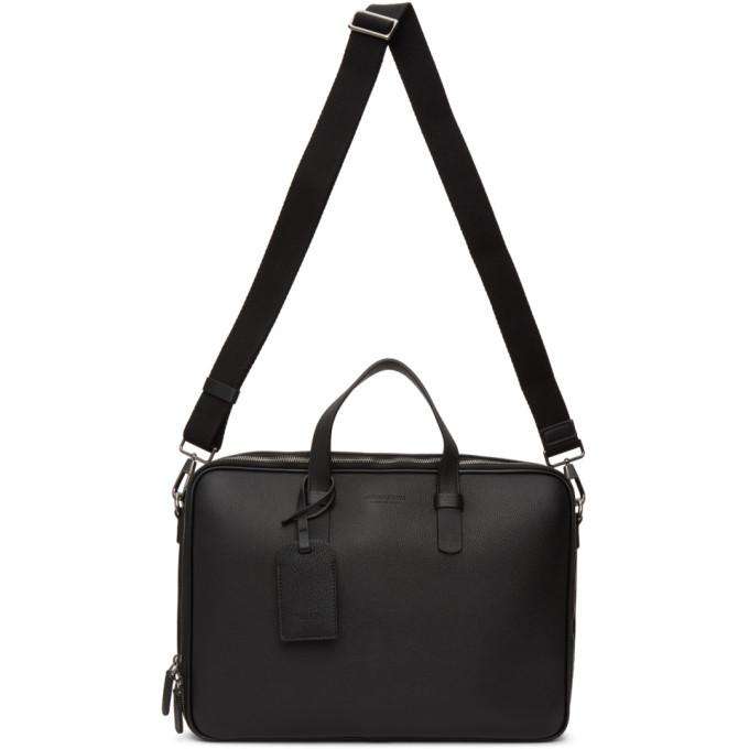Giorgio Armani Black Classic Briefcase