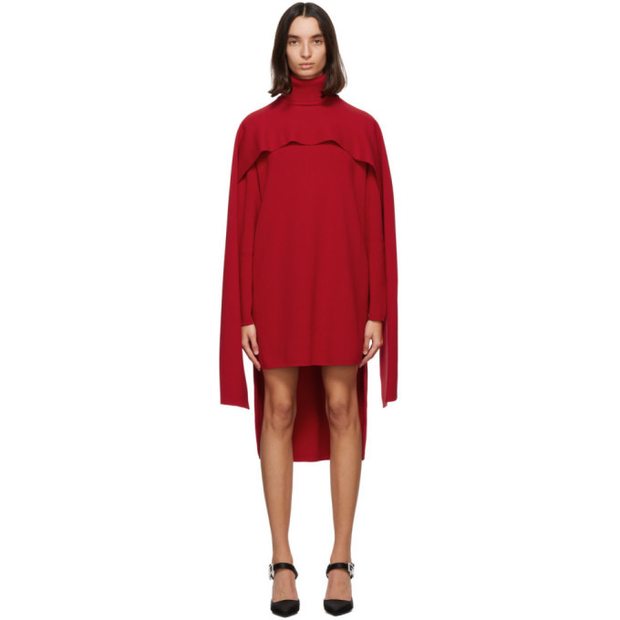 Photo: Givenchy Red Cape Dress