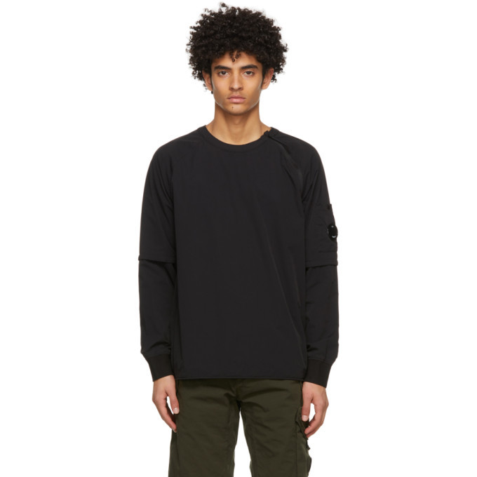 Photo: C.P. Company Black Nylon Stretch Double Sweatshirt
