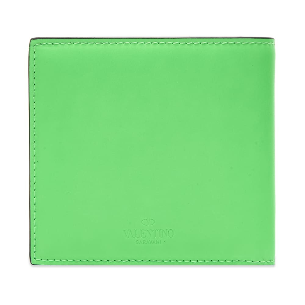 Valentino Fluo VLTN Leather Billfold Wallet
