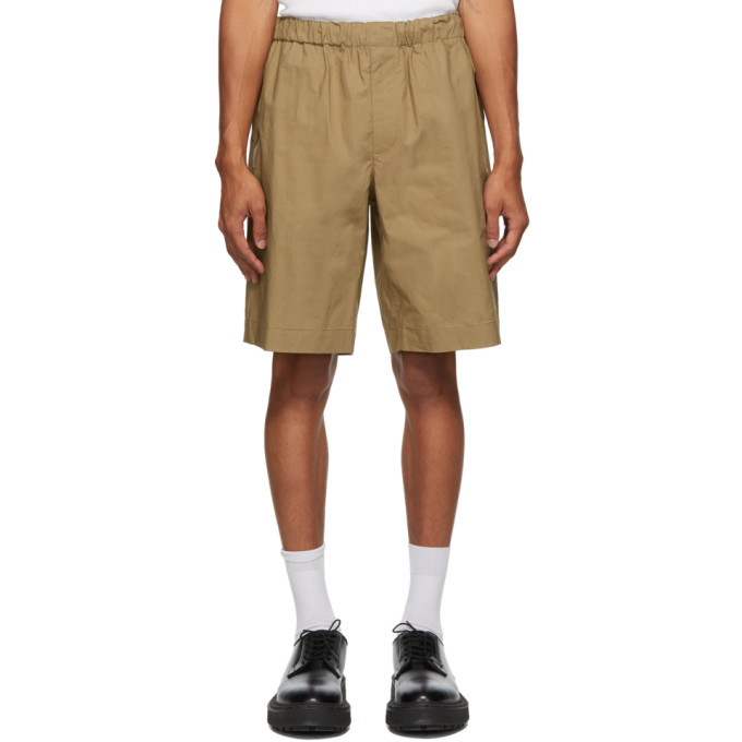 Photo: Helmut Lang Tan Pull-On Shorts
