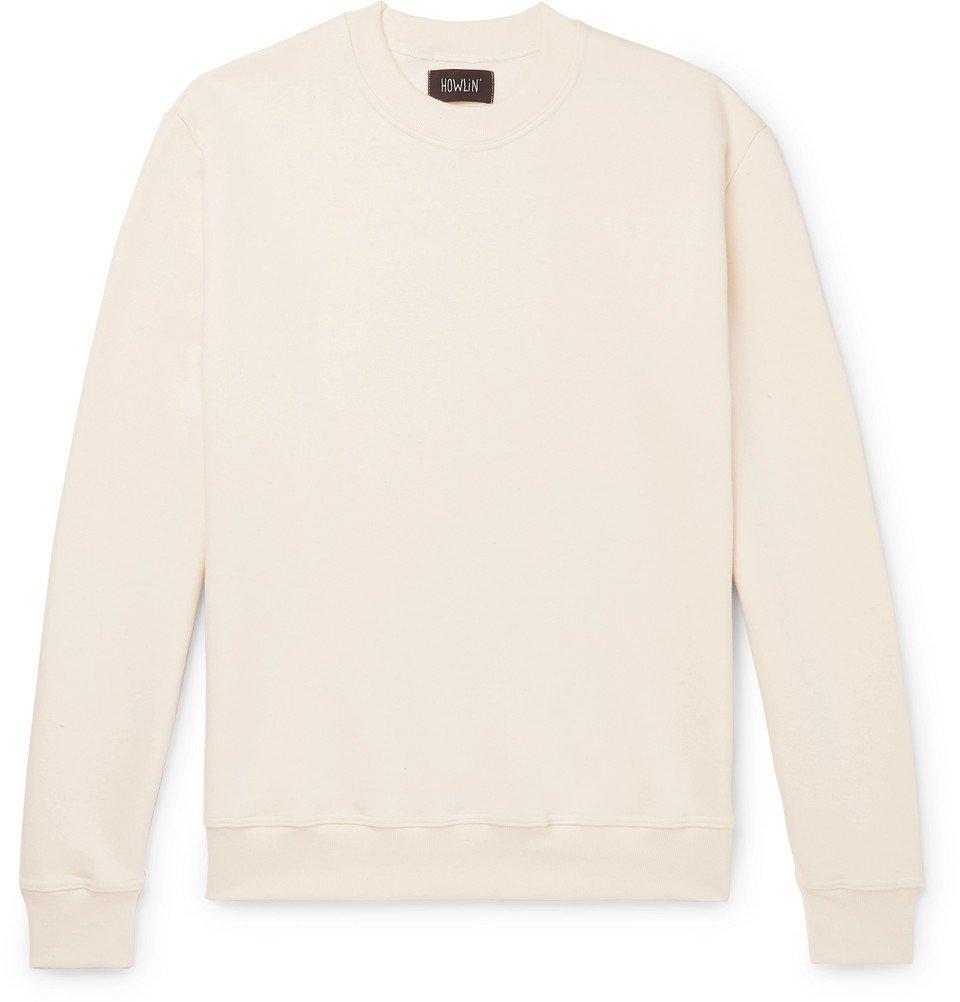 Photo: Howlin' - Fleece-Back Cotton-Jersey Sweatshirt - Ecru